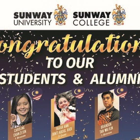 Sinh viên Sunway đóng góp 7 huy chương Vàng, 3 huy chương Bạc và 3 huy chương Đồng cho SEA Games 29